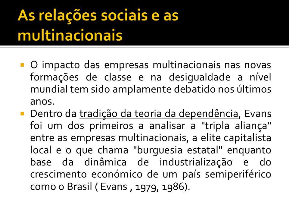 As relações sociais e as multinacionais