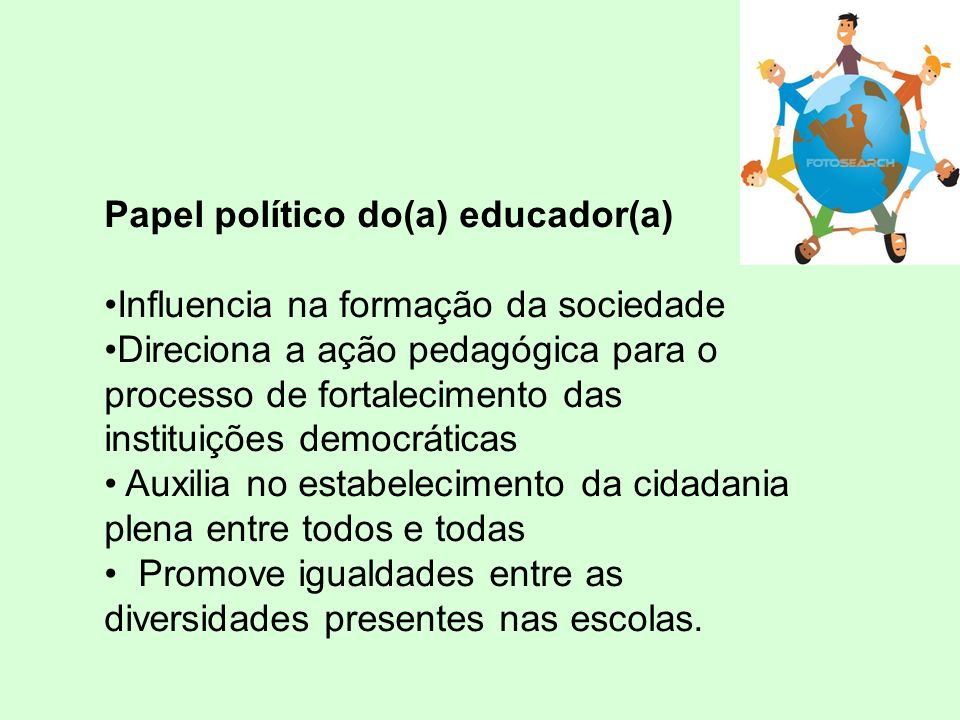 Papel político do(a) educador(a)