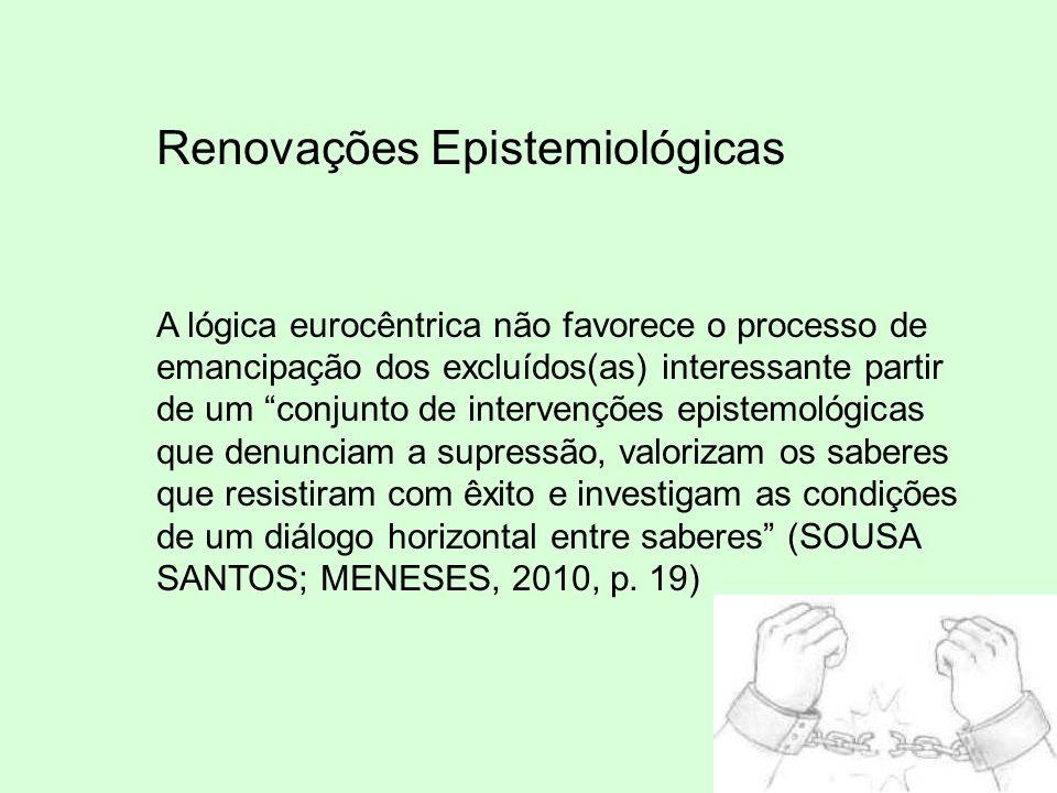 Renovações Epistemiológicas