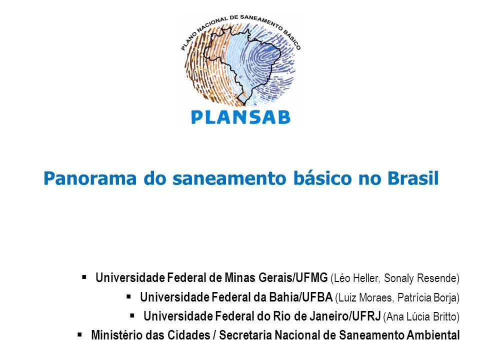 Panorama do saneamento básico no Brasil