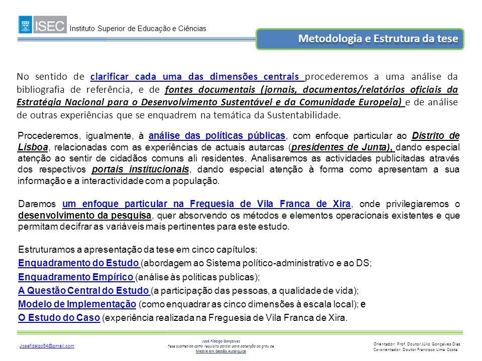 Metodologia e Estrutura da tese
