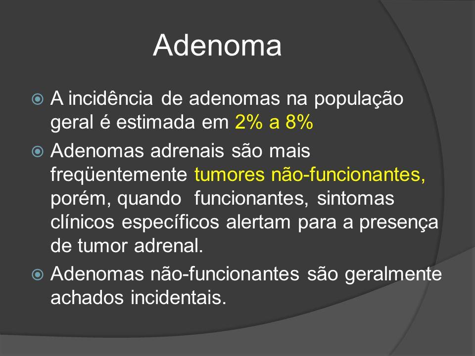 Adenoma A incidência de adenomas na população geral é estimada em 2% a 8%