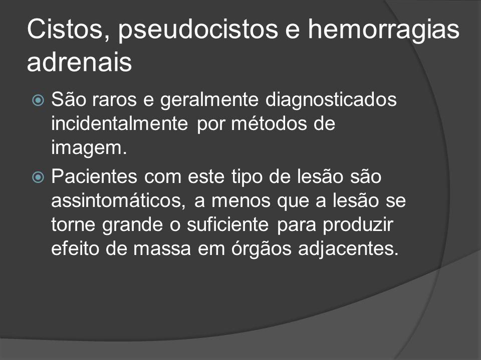 Cistos, pseudocistos e hemorragias adrenais