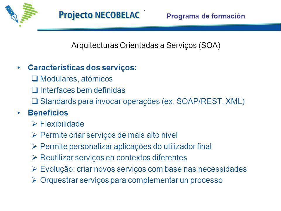 Arquitecturas Orientadas a Serviços (SOA)