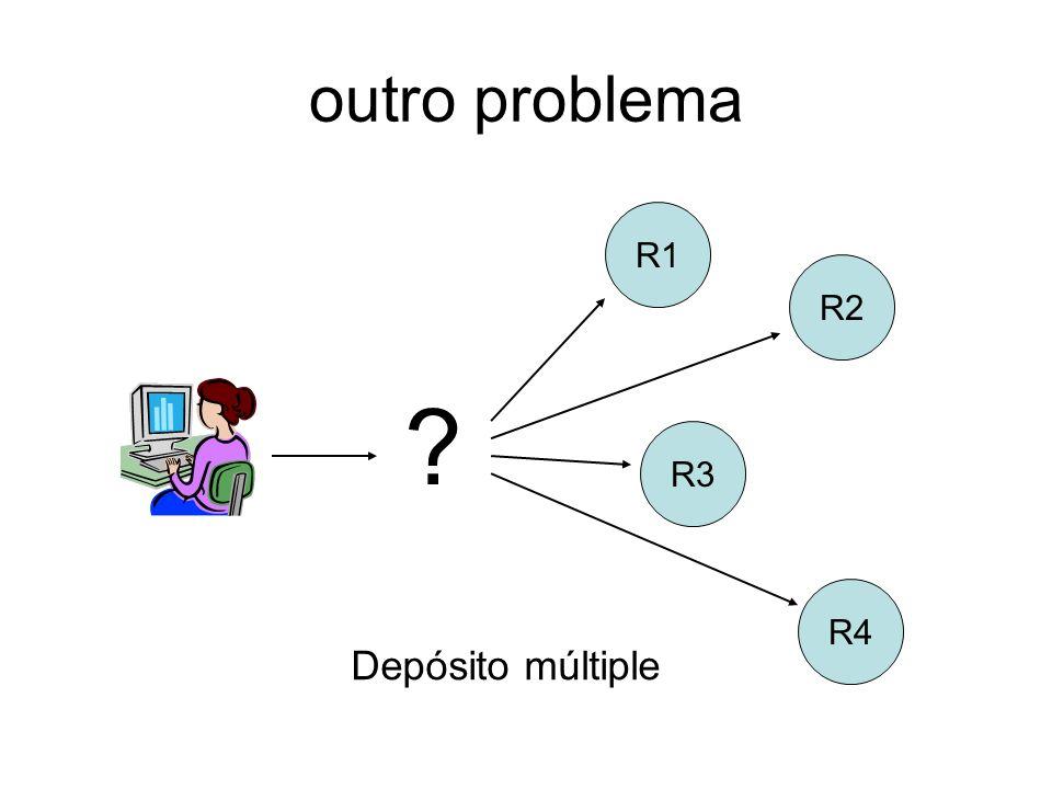 outro problema R1 R2 R3 R4 Depósito múltiple