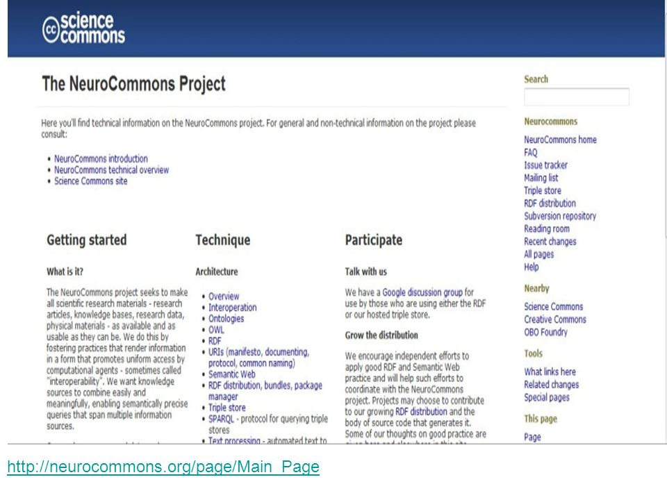 http://neurocommons.org/page/Main_Page