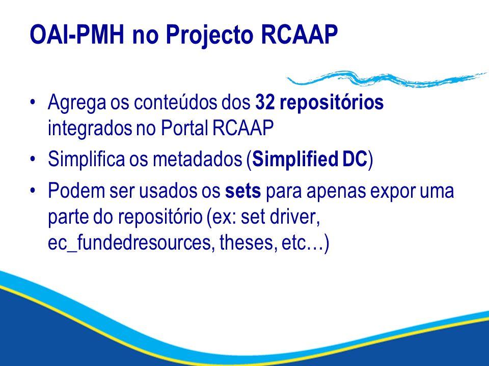 OAI-PMH no Projecto RCAAP