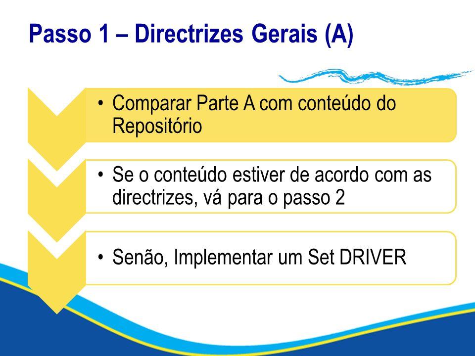 Passo 1 – Directrizes Gerais (A)