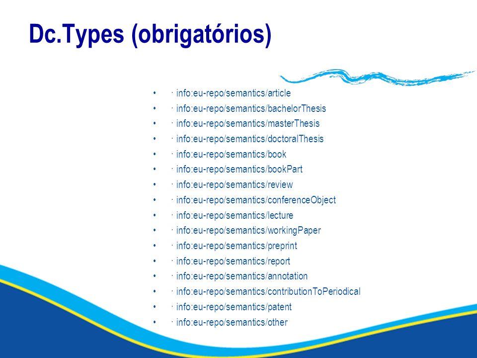 Dc.Types (obrigatórios)