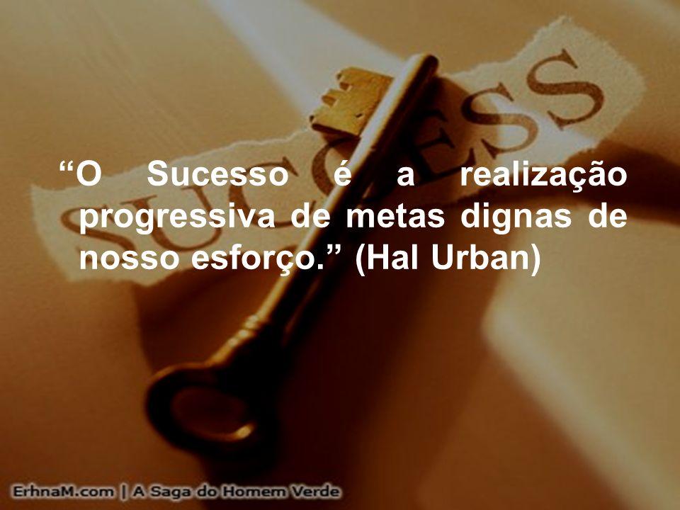 O Sucesso é a realização progressiva de metas dignas de nosso esforço