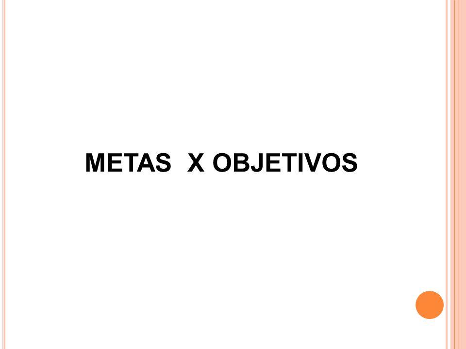 METAS X OBJETIVOS