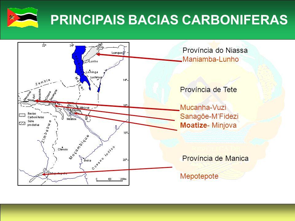 PRINCIPAIS BACIAS CARBONIFERAS