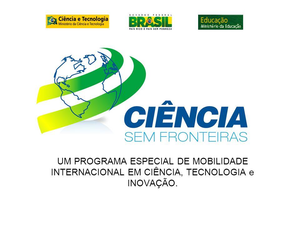 UM PROGRAMA ESPECIAL DE MOBILIDADE INTERNACIONAL EM CIÊNCIA, TECNOLOGIA e INOVAÇÃO.