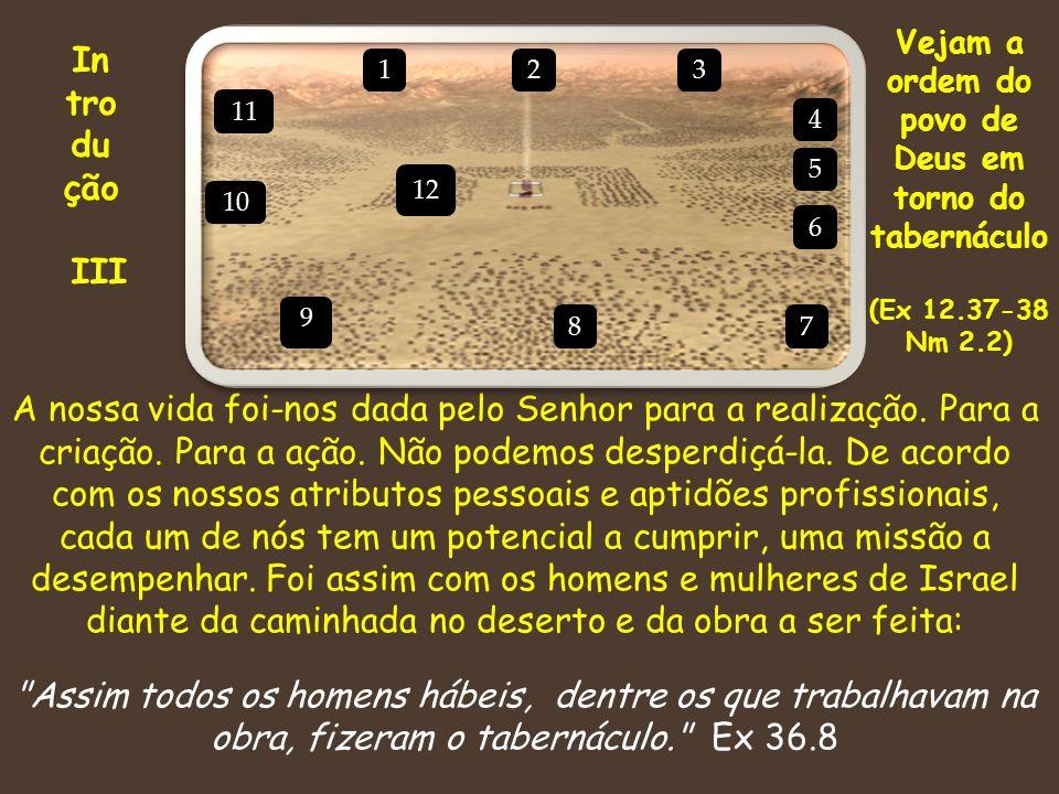 Vejam a ordem do povo de Deus em torno do tabernáculo