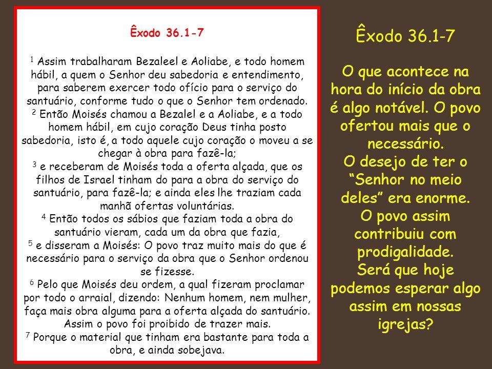 Êxodo 36.1-7