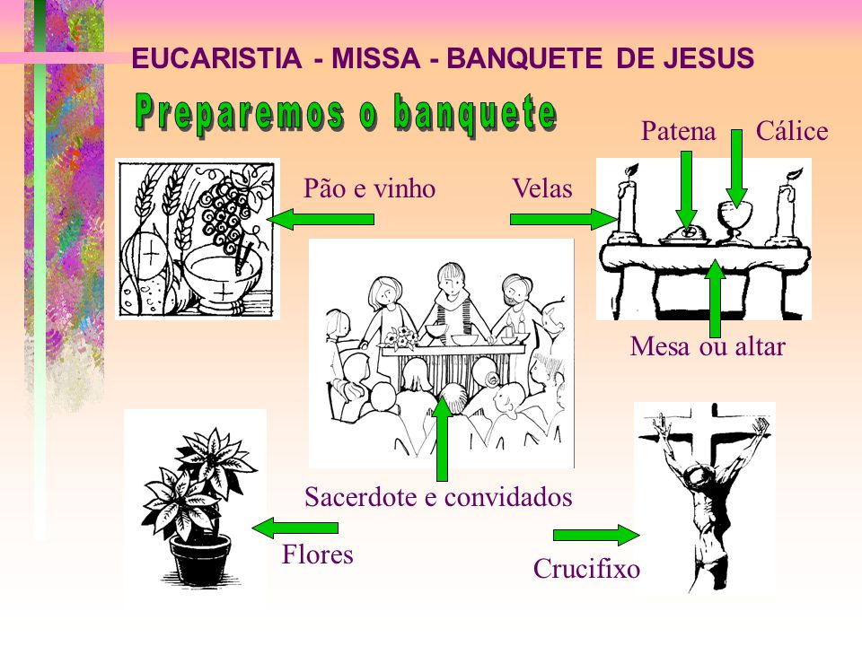 Preparemos o banquete EUCARISTIA - MISSA - BANQUETE DE JESUS Patena