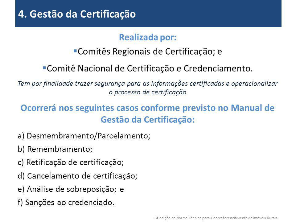 4. Gestão da Certificação 2. Objetivos
