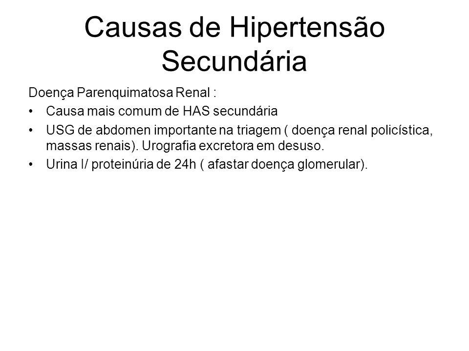 Causas de Hipertensão Secundária