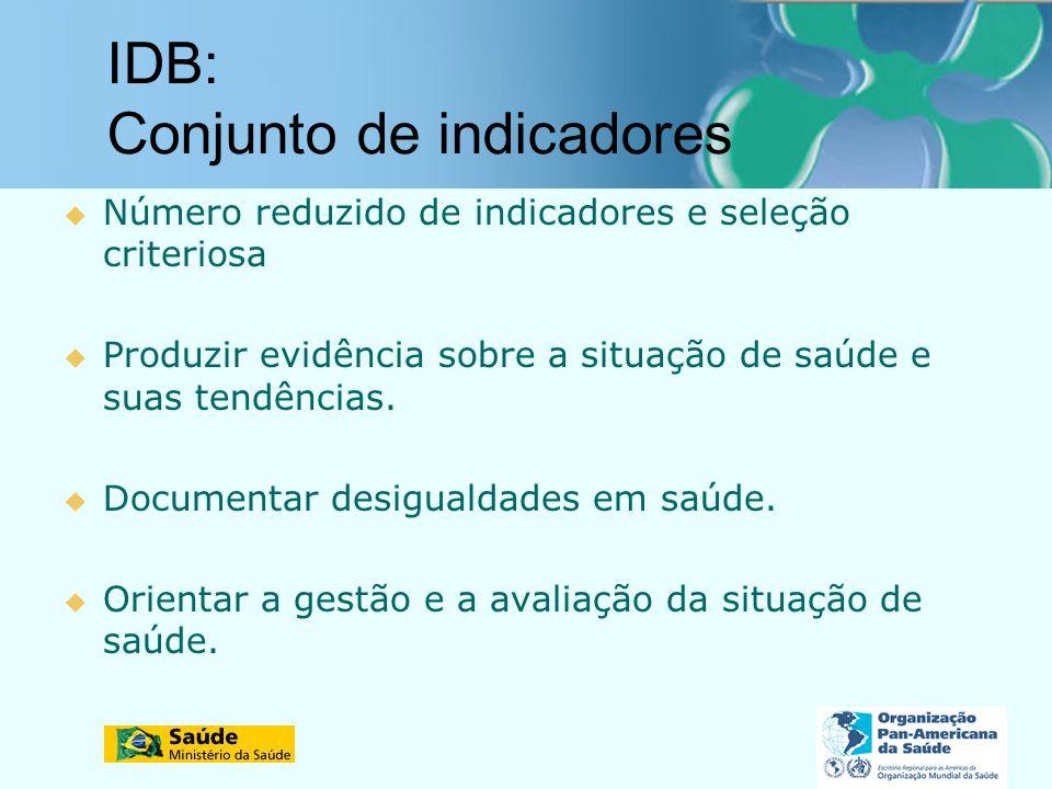 IDB: Conjunto de indicadores