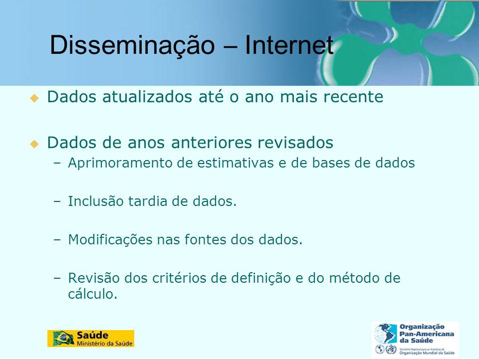Disseminação – Internet