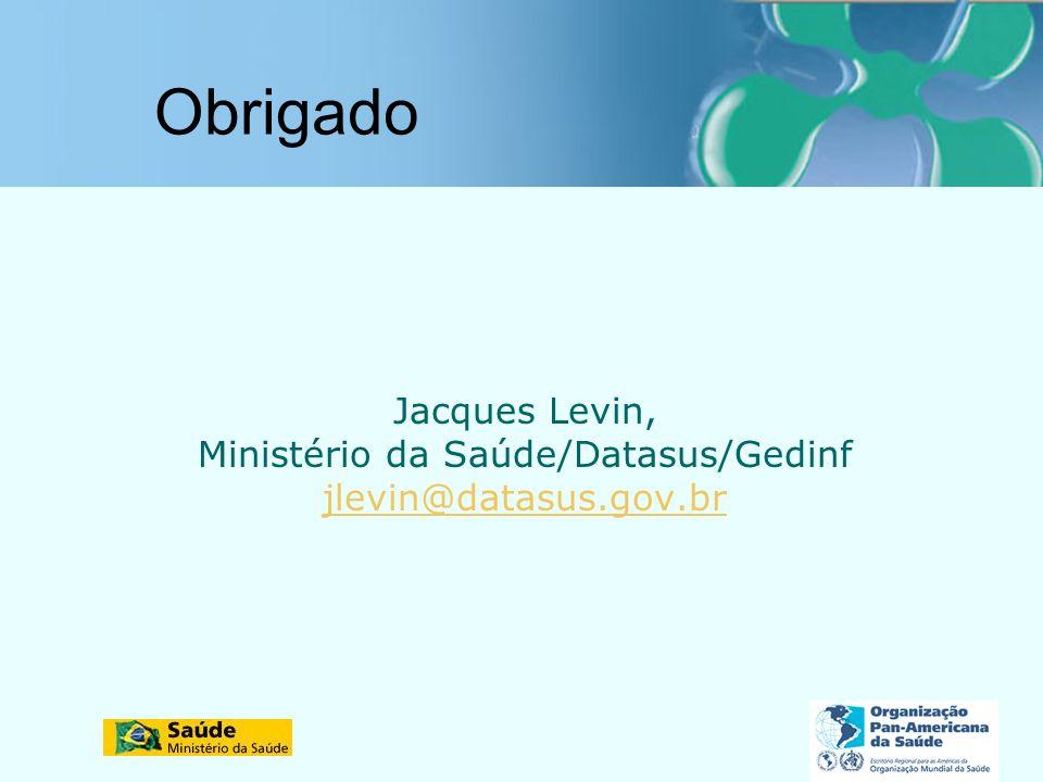 Ministério da Saúde/Datasus/Gedinf
