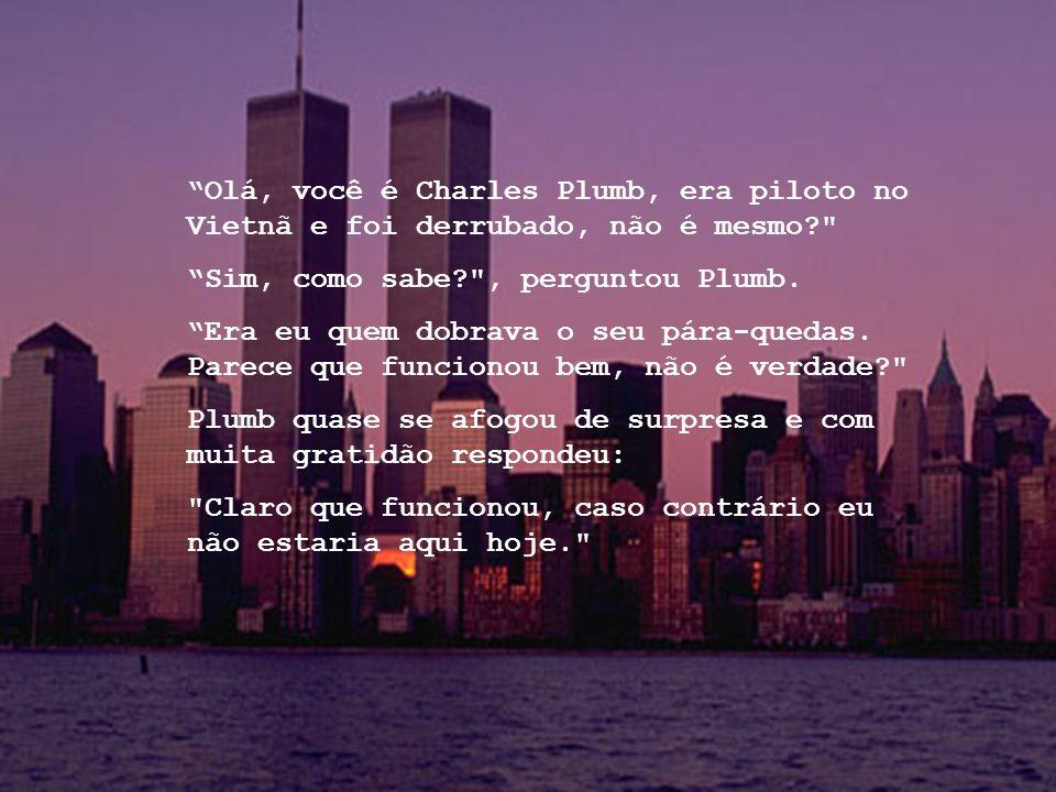 Olá, você é Charles Plumb, era piloto no Vietnã e foi derrubado, não é mesmo