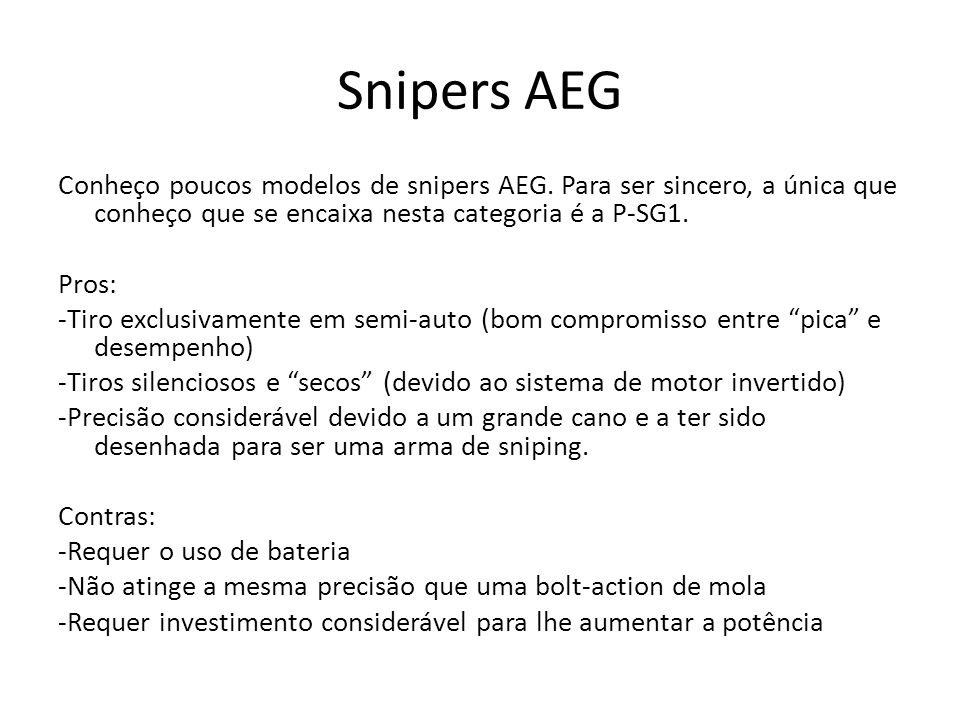 Snipers AEG