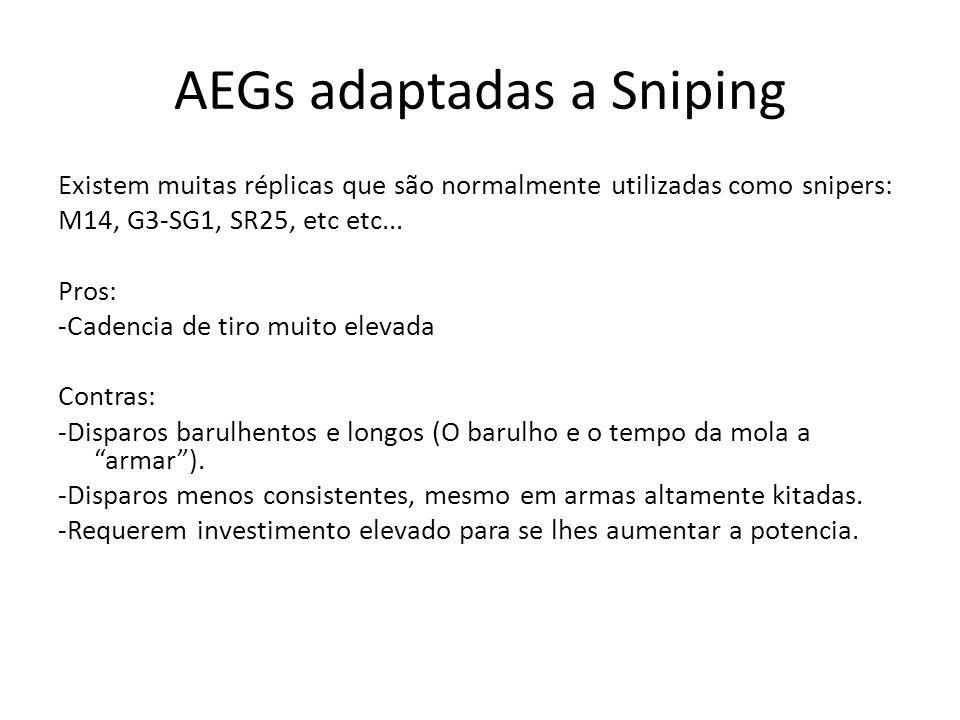 AEGs adaptadas a Sniping