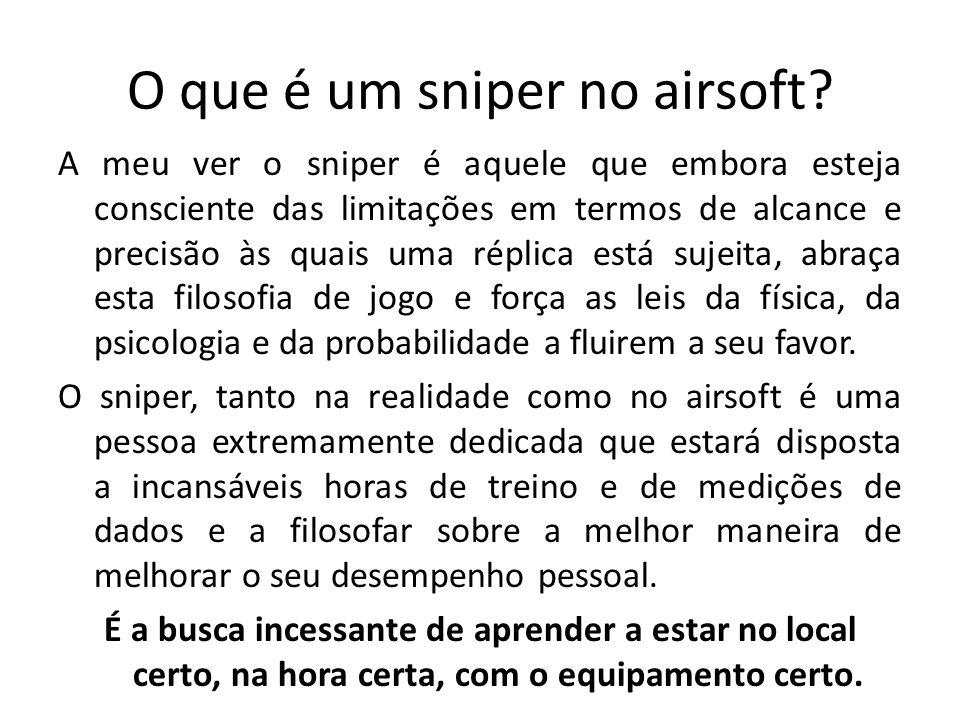O que é um sniper no airsoft