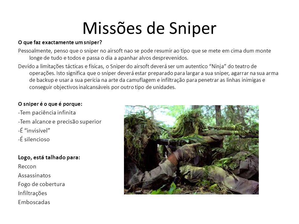 Missões de Sniper -Tem paciência infinita
