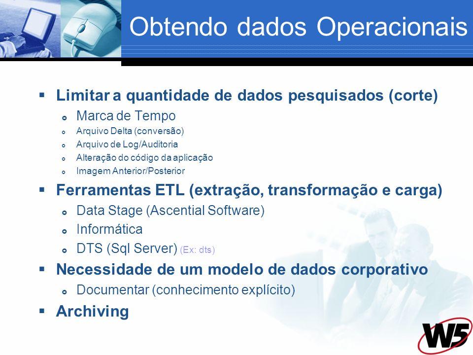 Obtendo dados Operacionais