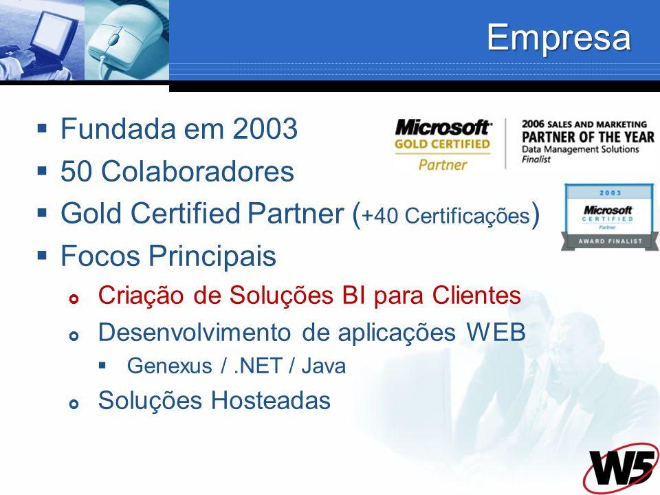 Empresa Fundada em 2003 50 Colaboradores