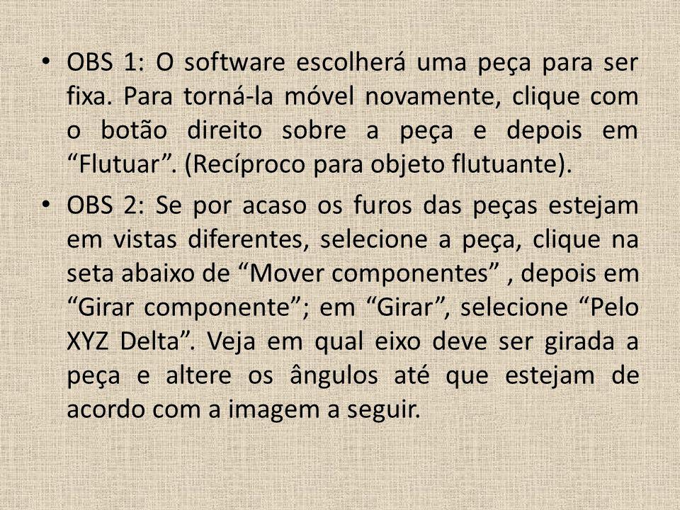 OBS 1: O software escolherá uma peça para ser fixa