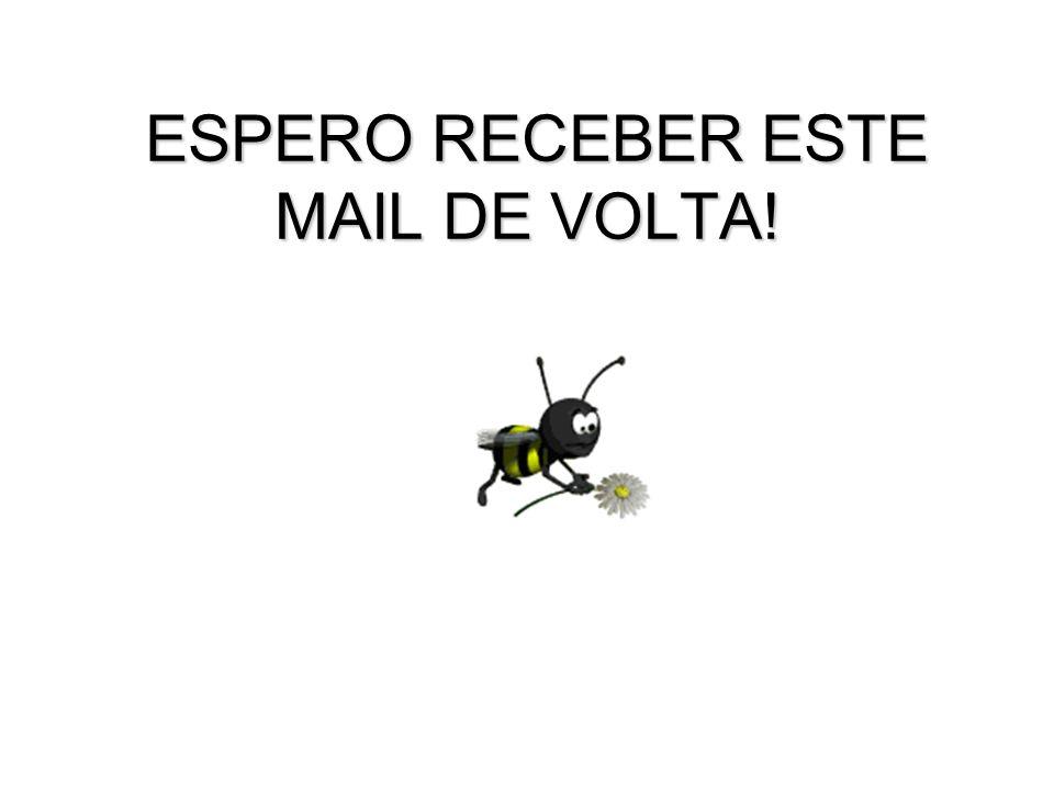 ESPERO RECEBER ESTE MAIL DE VOLTA!