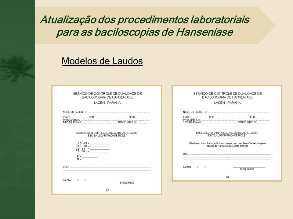 Atualização dos procedimentos laboratoriais para as baciloscopias de Hanseníase