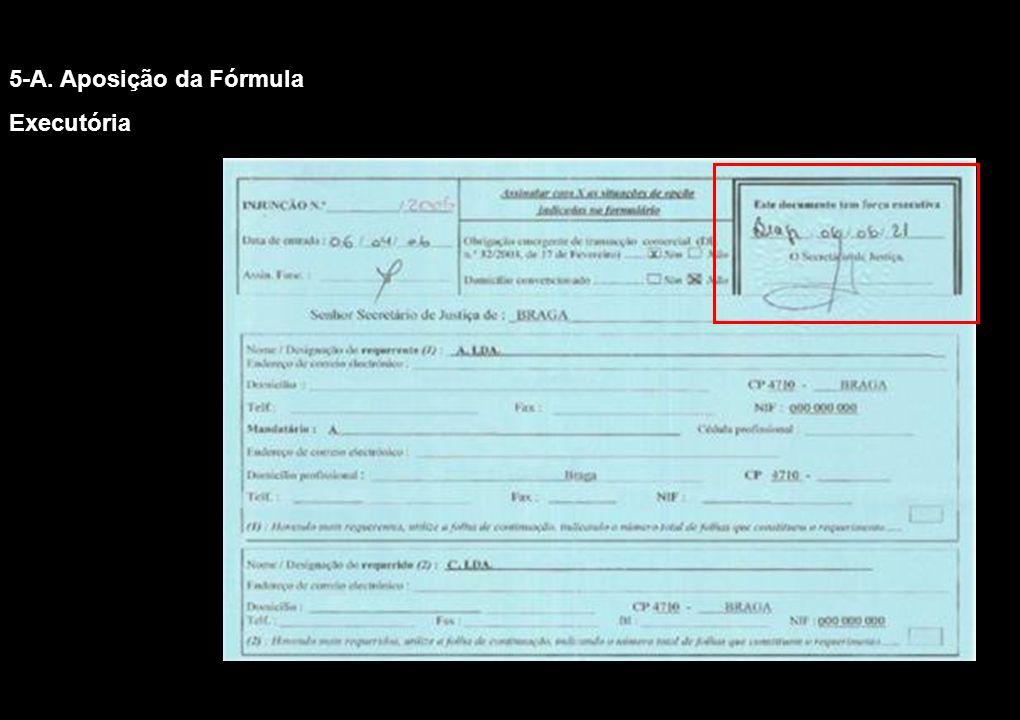 5-A. Aposição da Fórmula Executória