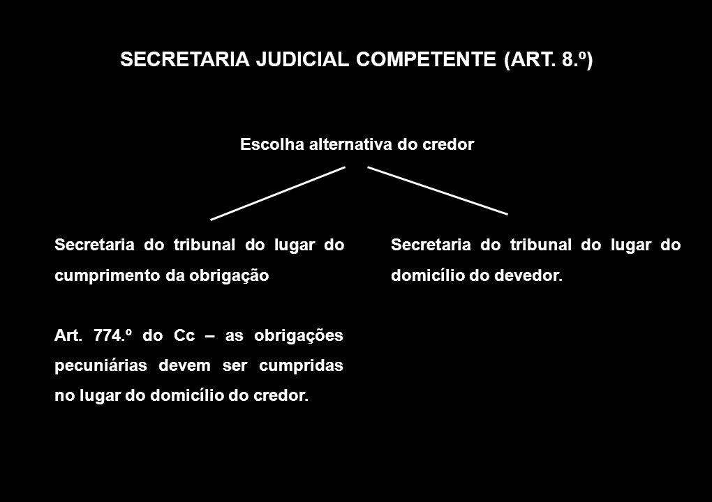SECRETARIA JUDICIAL COMPETENTE (ART. 8.º)