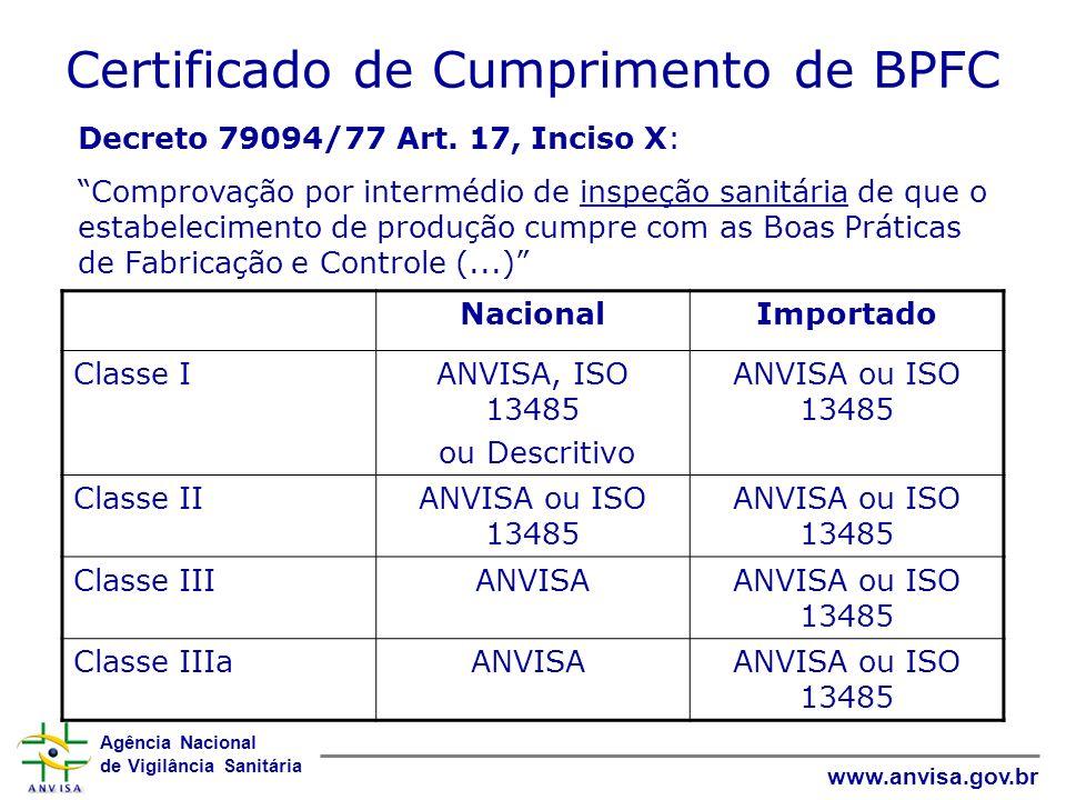 Certificado de Cumprimento de BPFC