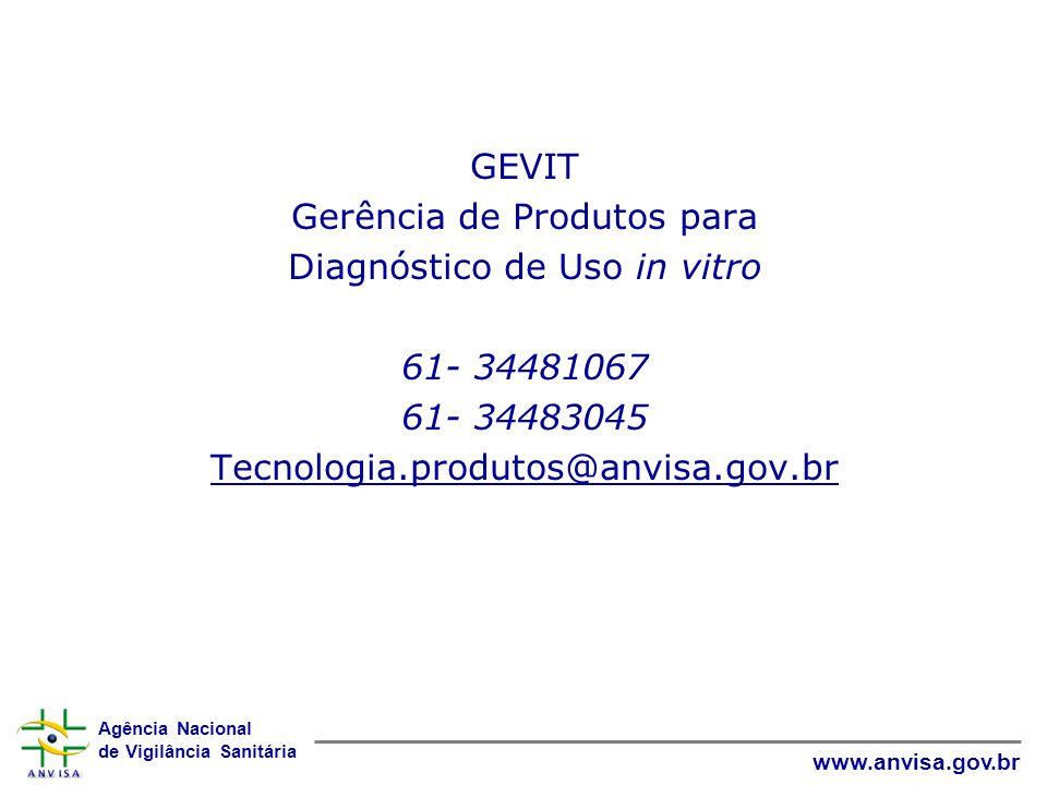 Gerência de Produtos para Diagnóstico de Uso in vitro 61- 34481067