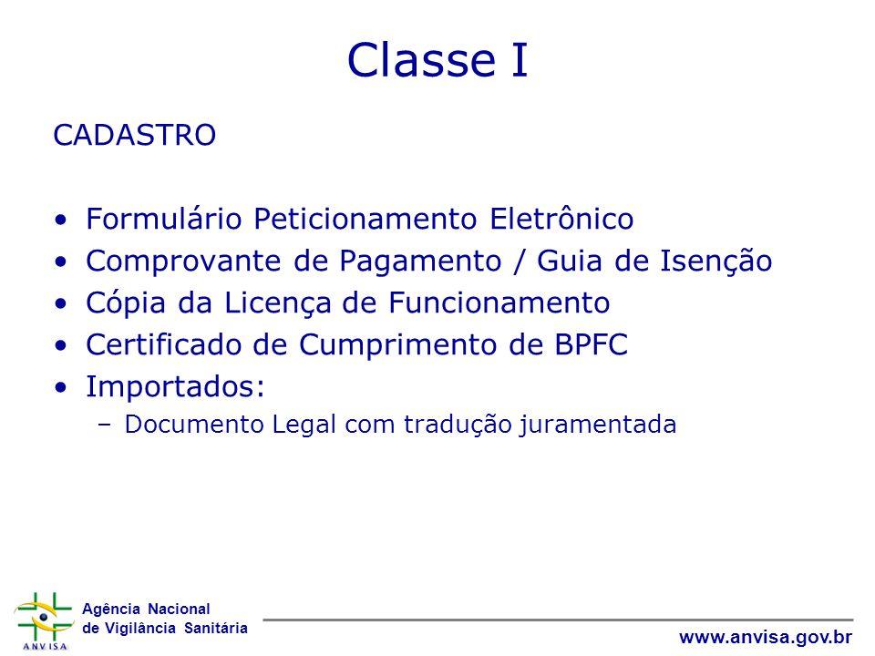Classe I CADASTRO Formulário Peticionamento Eletrônico