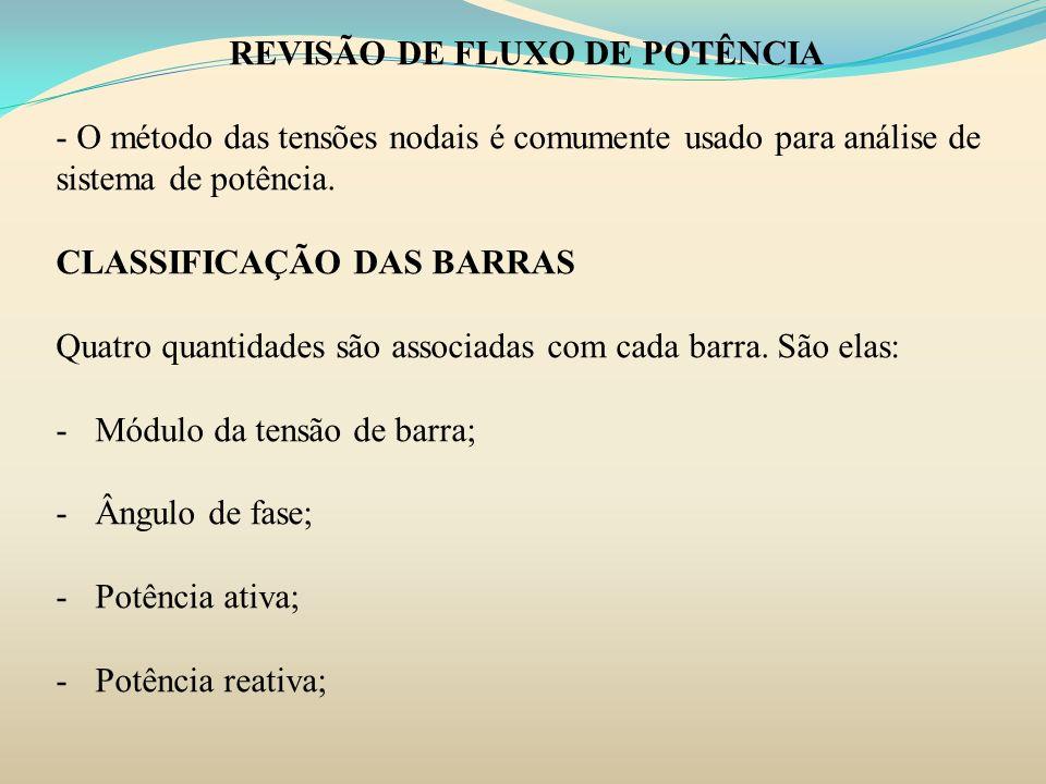 REVISÃO DE FLUXO DE POTÊNCIA
