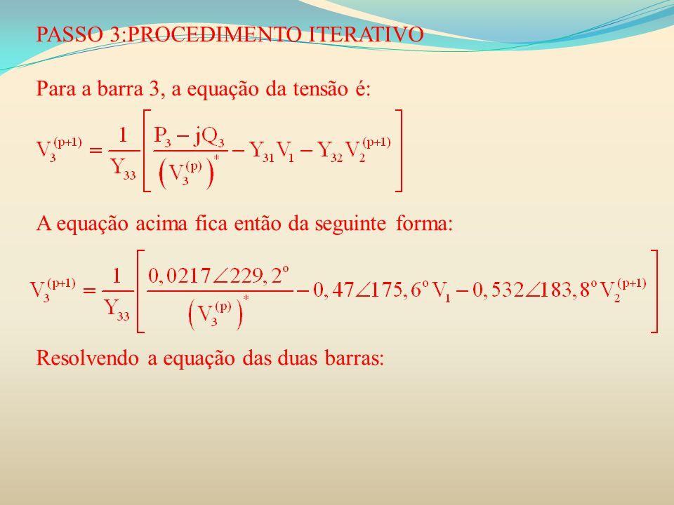 PASSO 3:PROCEDIMENTO ITERATIVO