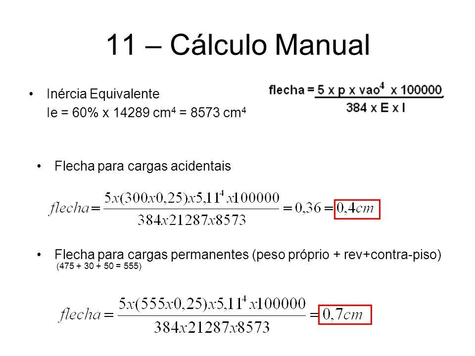 11 – Cálculo Manual Inércia Equivalente