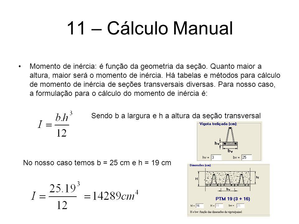 11 – Cálculo Manual