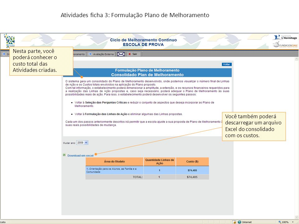 Atividades ficha 3: Formulação Plano de Melhoramento