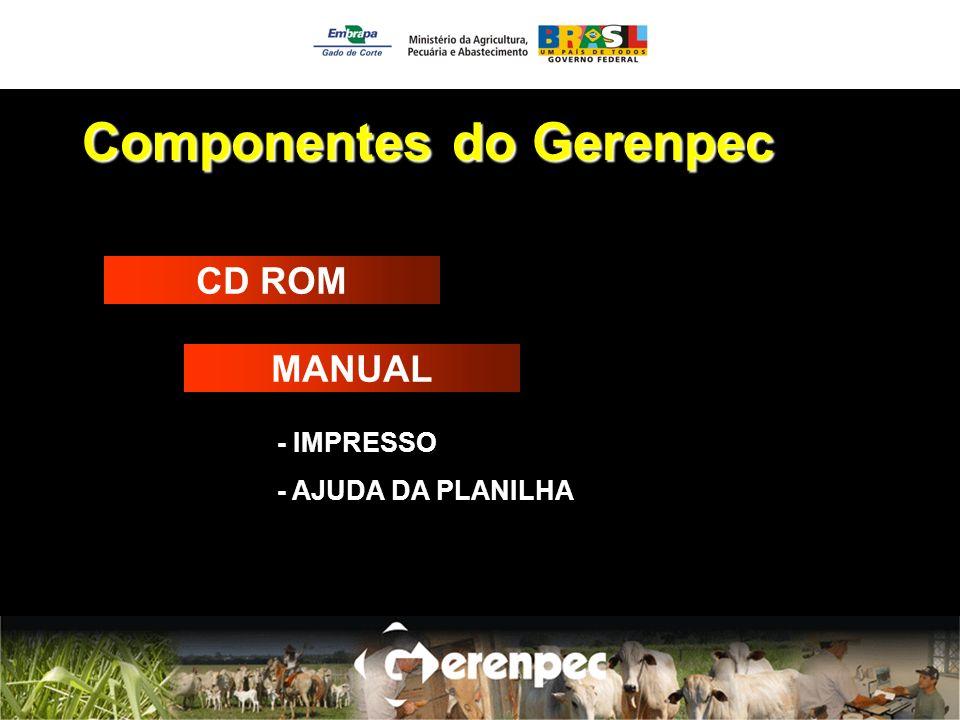 Componentes do Gerenpec