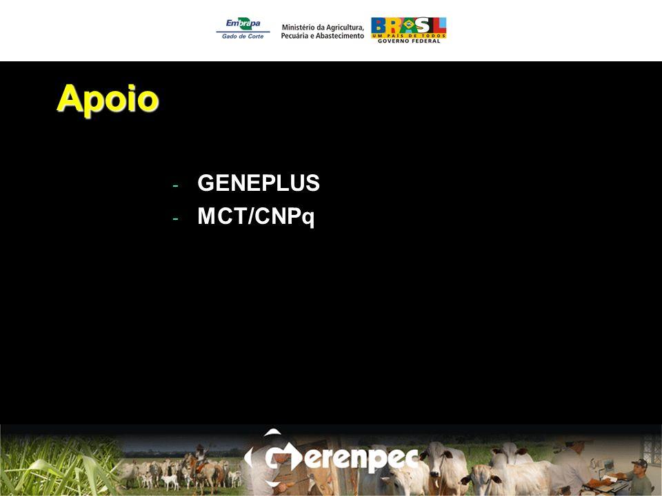 Apoio GENEPLUS MCT/CNPq
