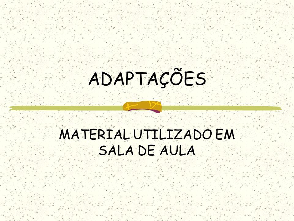 MATERIAL UTILIZADO EM SALA DE AULA