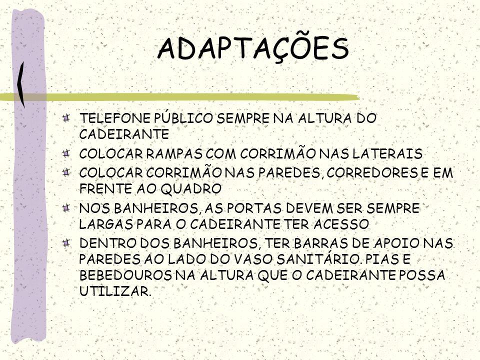 ADAPTAÇÕES TELEFONE PÚBLICO SEMPRE NA ALTURA DO CADEIRANTE