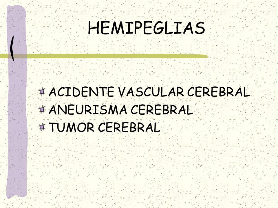 HEMIPEGLIAS ACIDENTE VASCULAR CEREBRAL ANEURISMA CEREBRAL